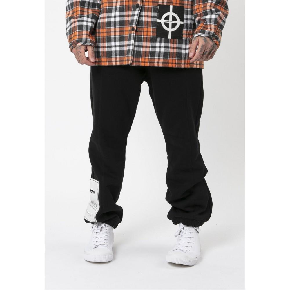 Religion Plain Logo Patch Black Joggers