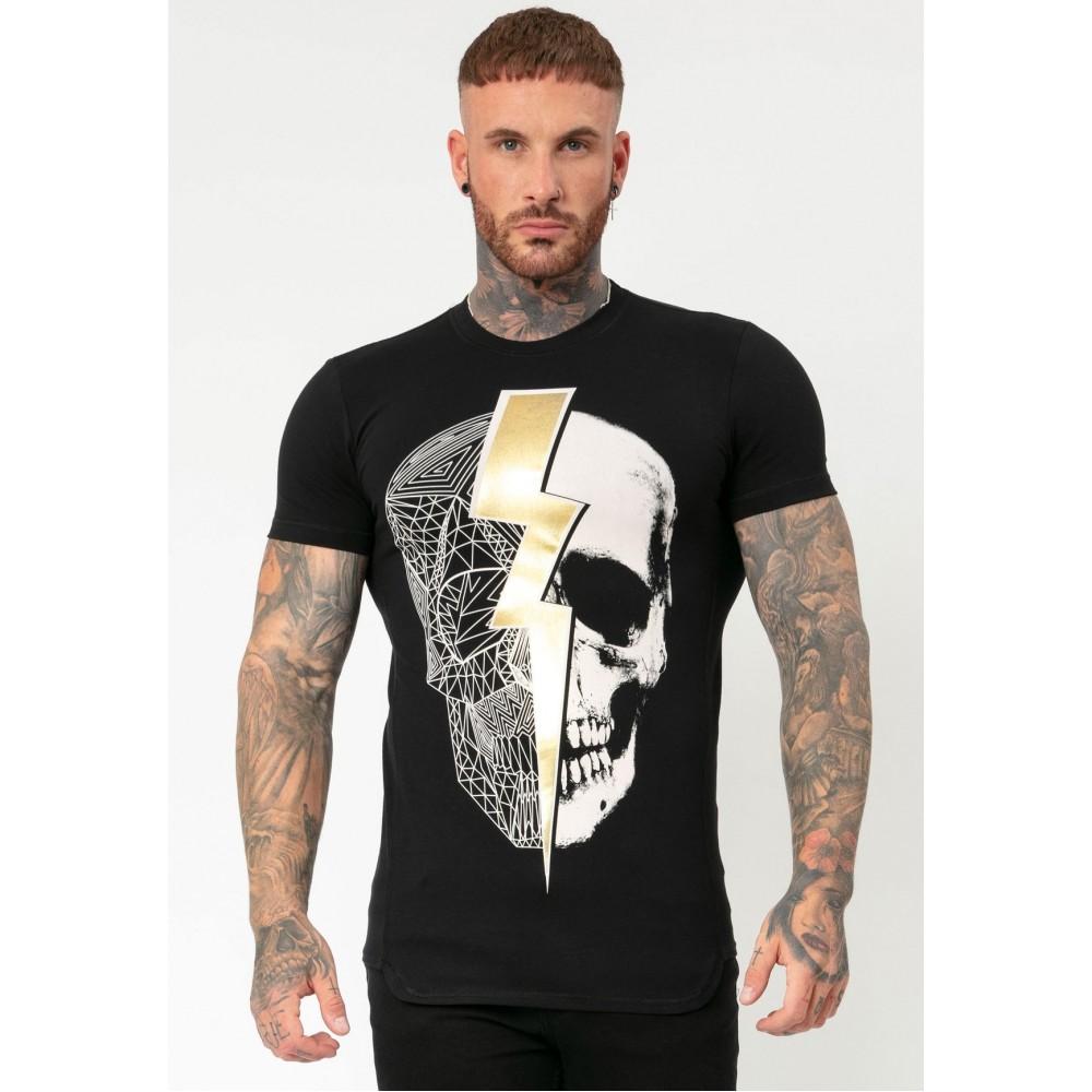 Religion Lightning Skull Crew T-shirt