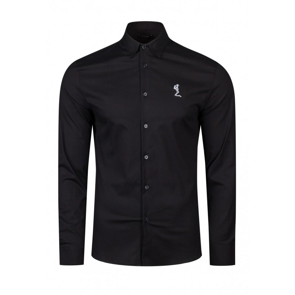 Religion Chiltern Poplin Shirt in Black