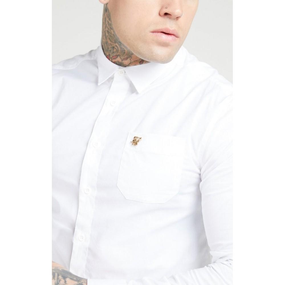 SikSilk L/S Smart Shirt - White