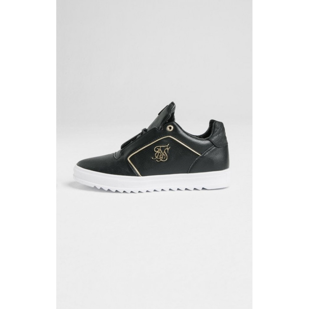 SikSilk Storm Trainers– Black & Gold