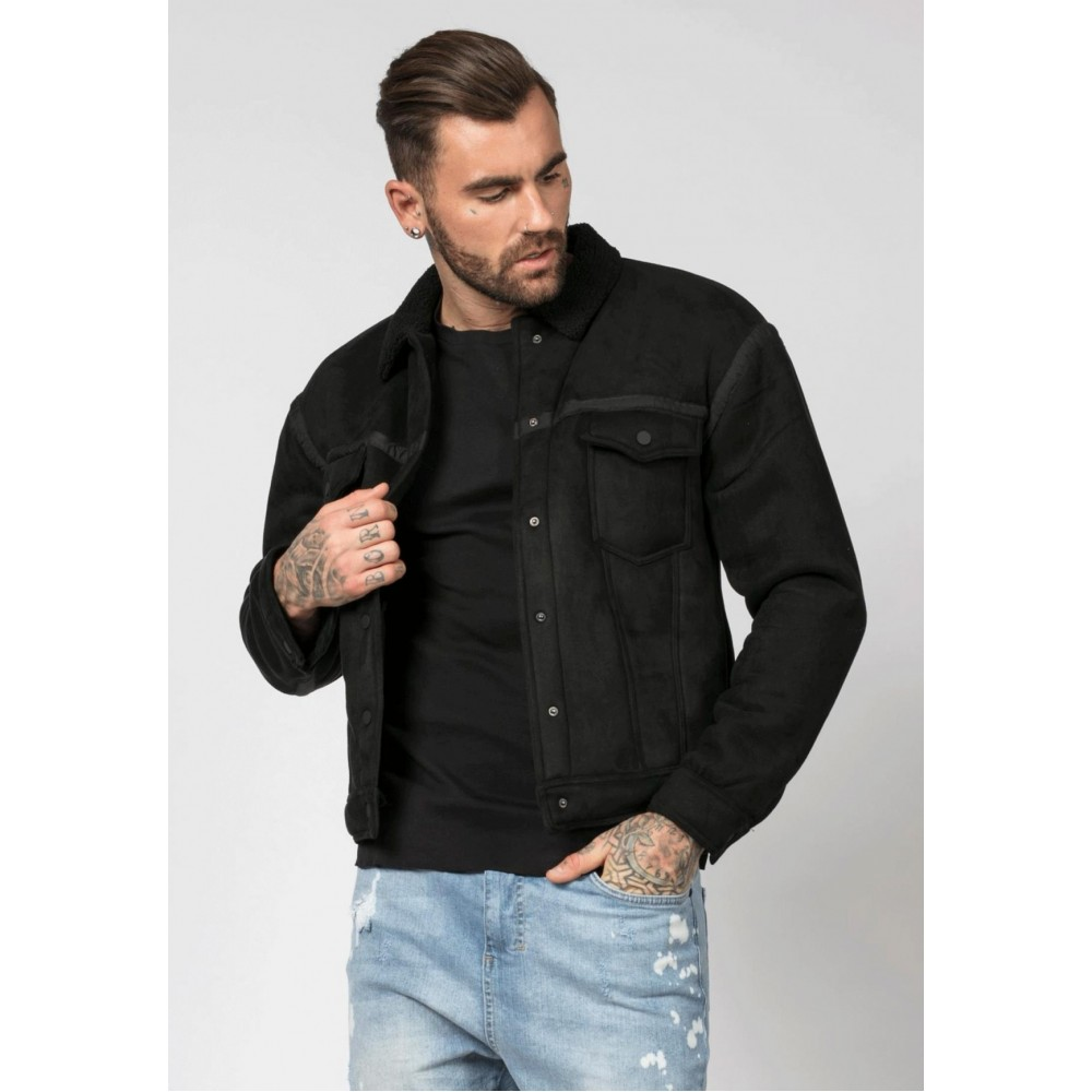 Religion Trail Black Faux Suede Jacket