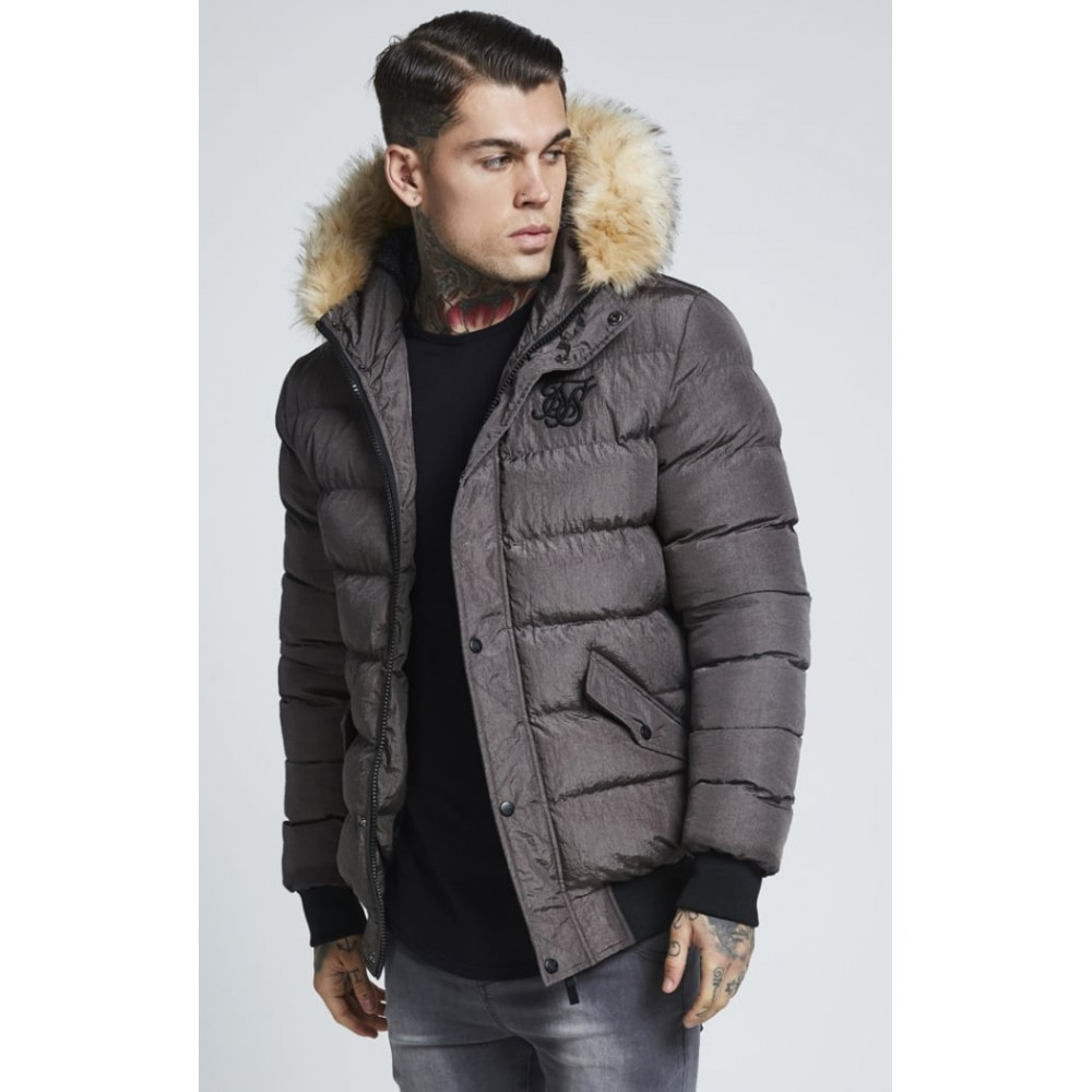 SikSilk Parachute Jacket - Grey