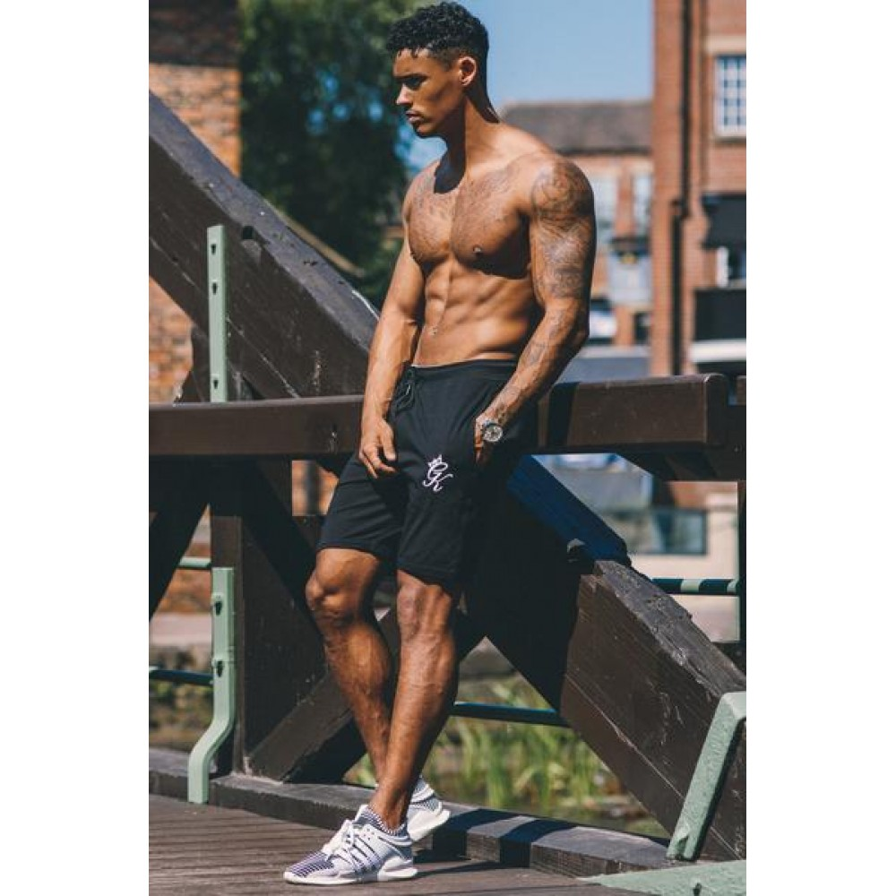 Gym King Jersey Shorts - Black