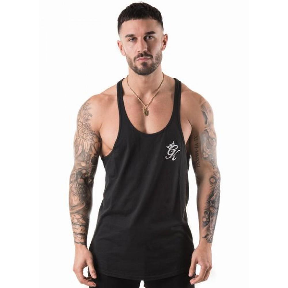 Gym King Stringer Vest - Black/White