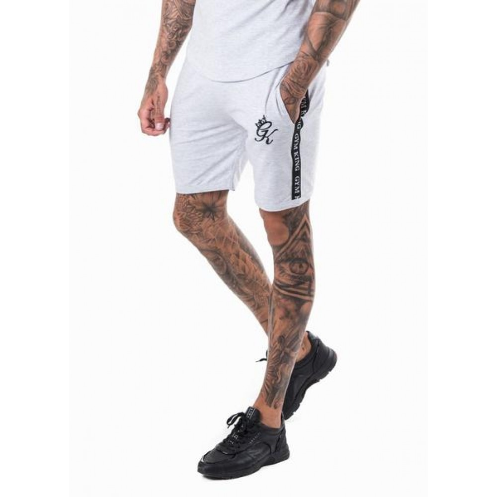 Gym King Taped Jersey Shorts - Snow Marl