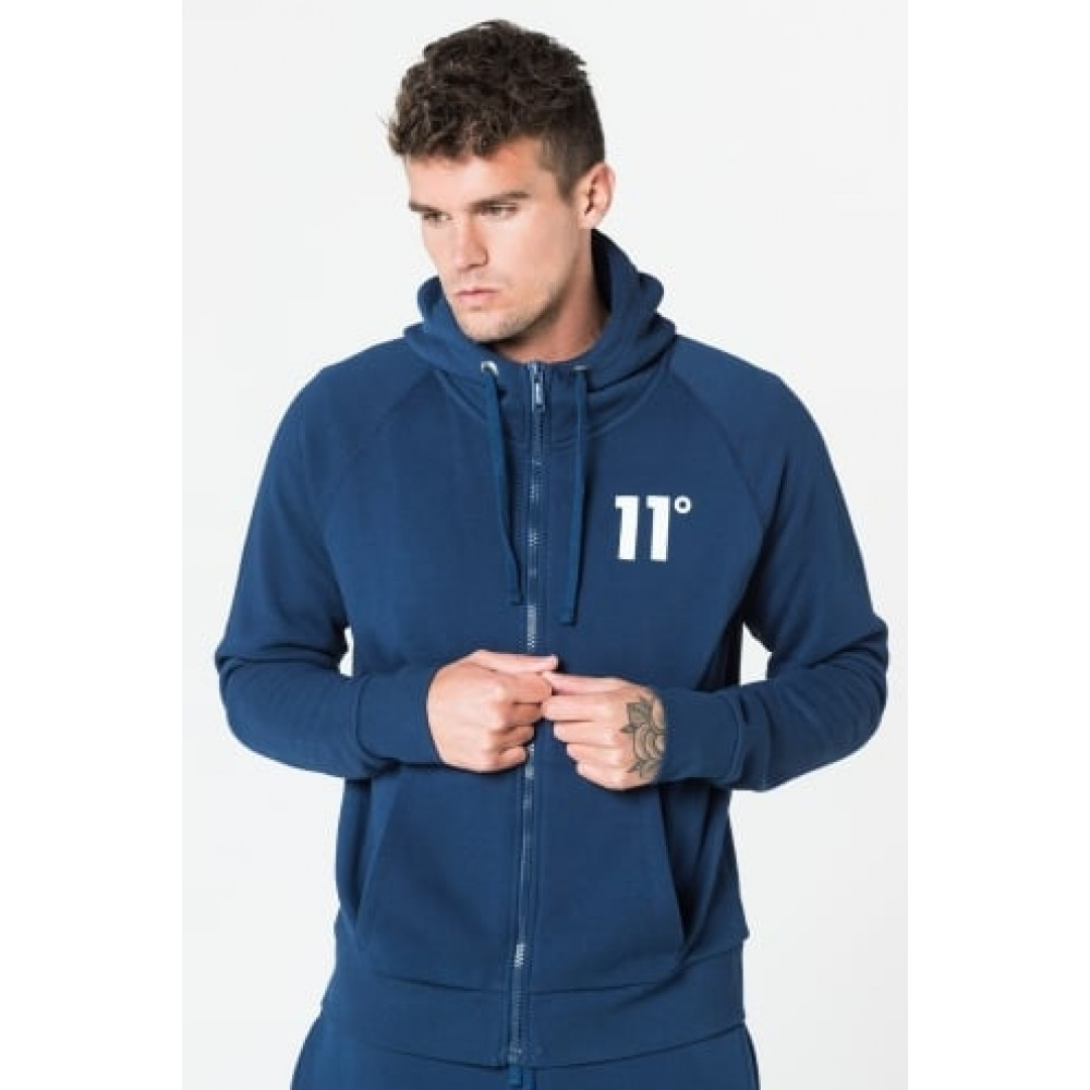 11 Degrees Core Zip Hoody - Navy