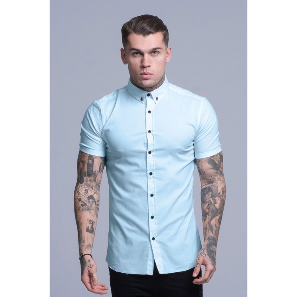 Judas Sinned Blue Glass Short Sleeved Disciple Shirt