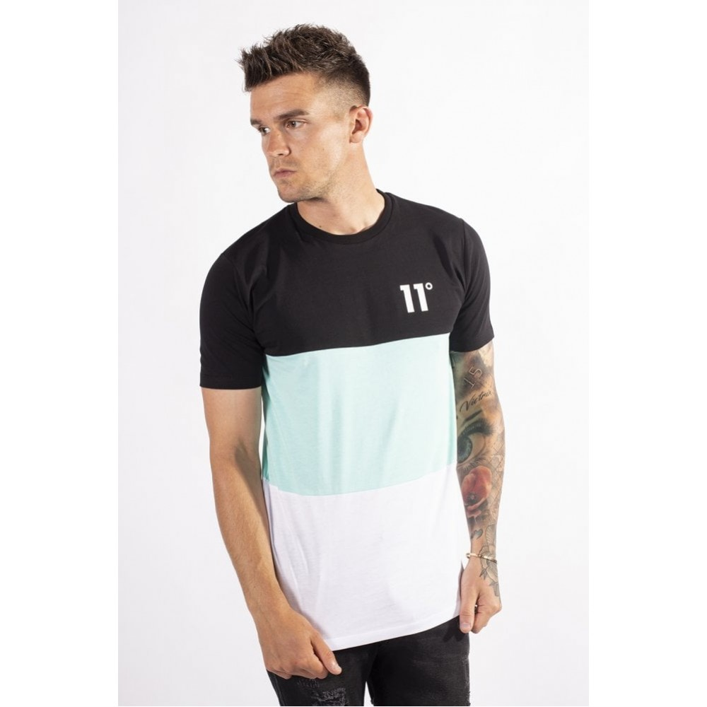 11 DEGREES Rubix Triple Panel T-Shirt - Aqua