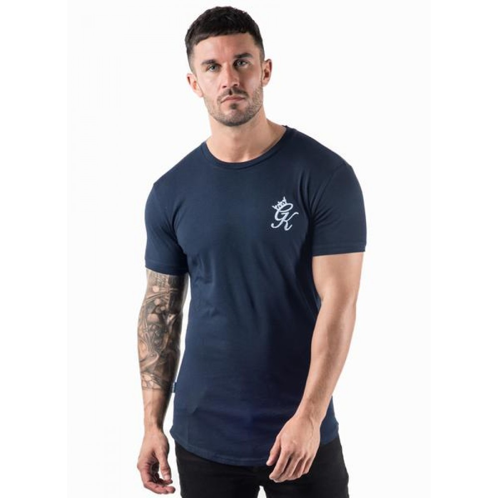 Gym King Longsleeve Fitted T-Shirt - Navy Nights