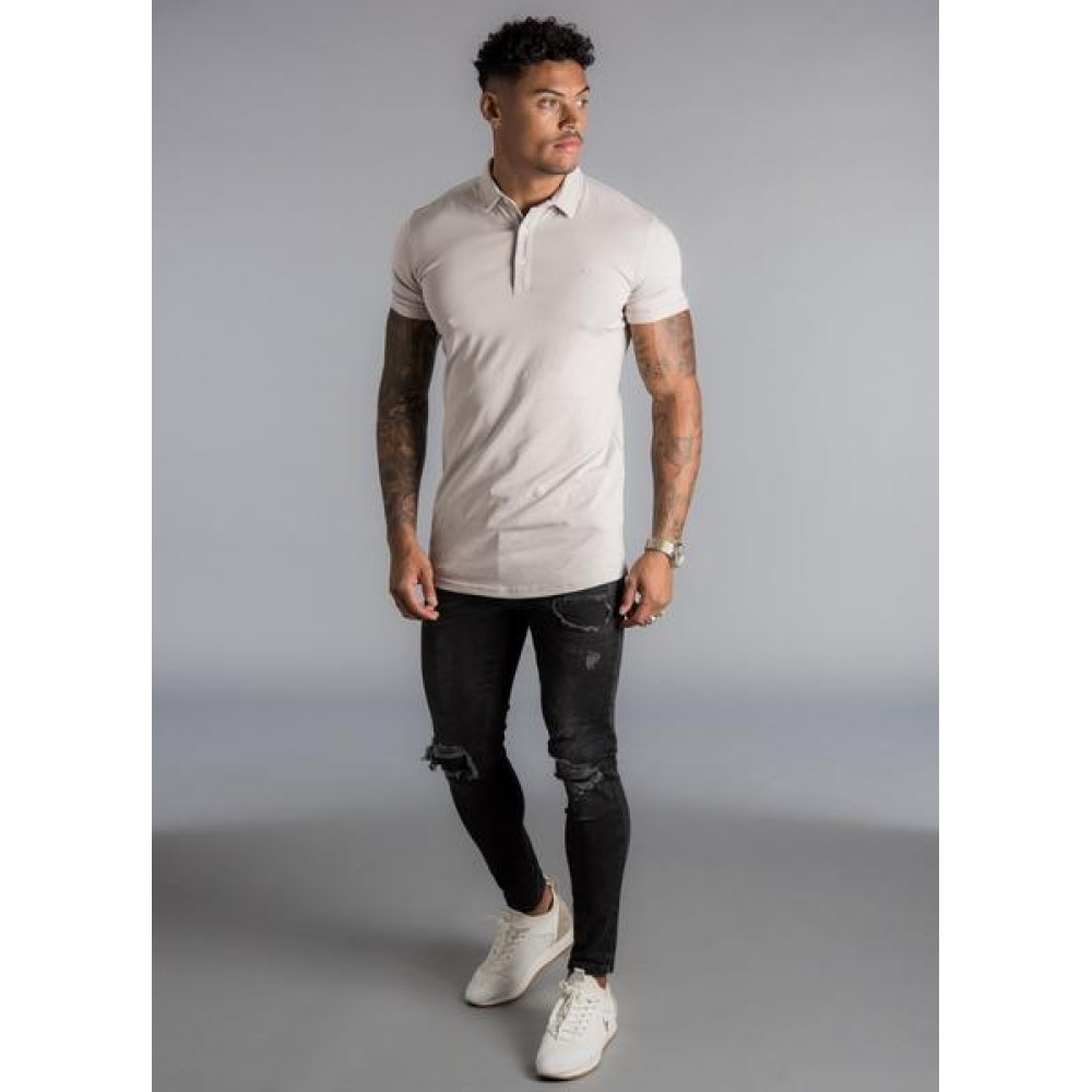 Gym King Shortsleeve Jersey Polo Shirt - Ashes of Roses
