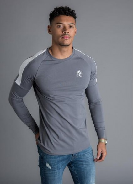 Gym King Core Plus Long Sleeve T-Shirt - Dark Grey