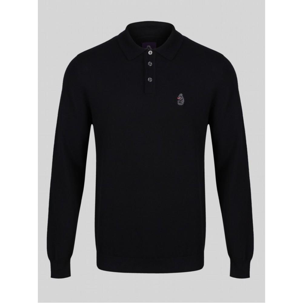 Luke 1977 Magnesium Polo Shirt - Black