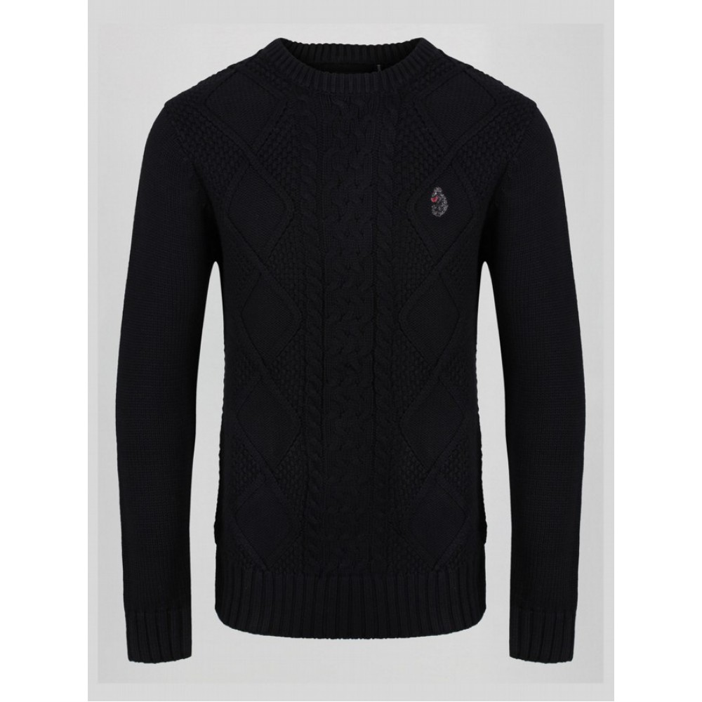 Luke 1977 Horton Court Knit Jumper - Black