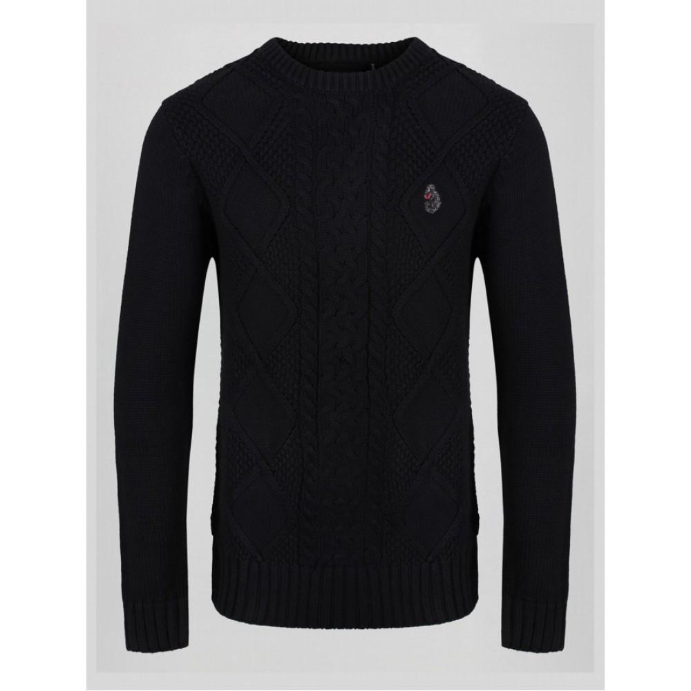 Luke 1977 Horton Court Knit Jumper - Black