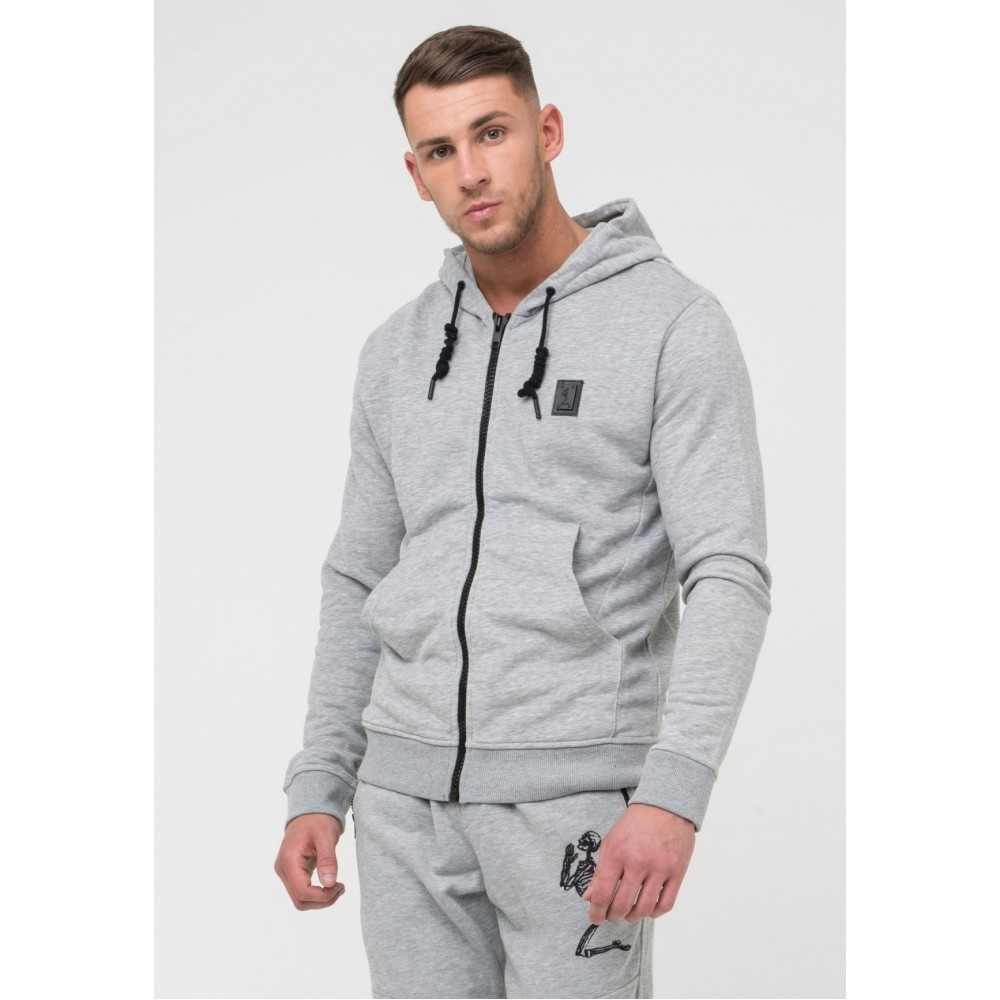 Religion Badge Hoodie - Grey