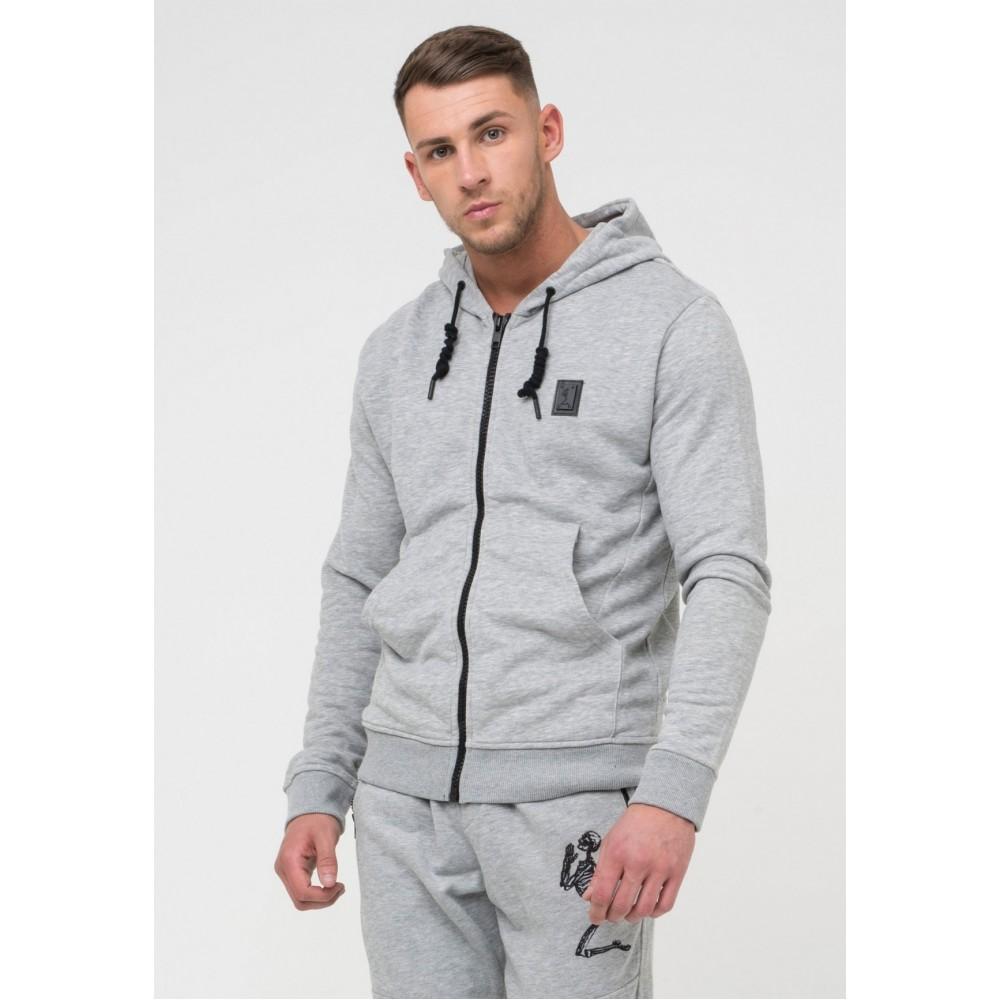 Religion Badge Hoodie - Grey