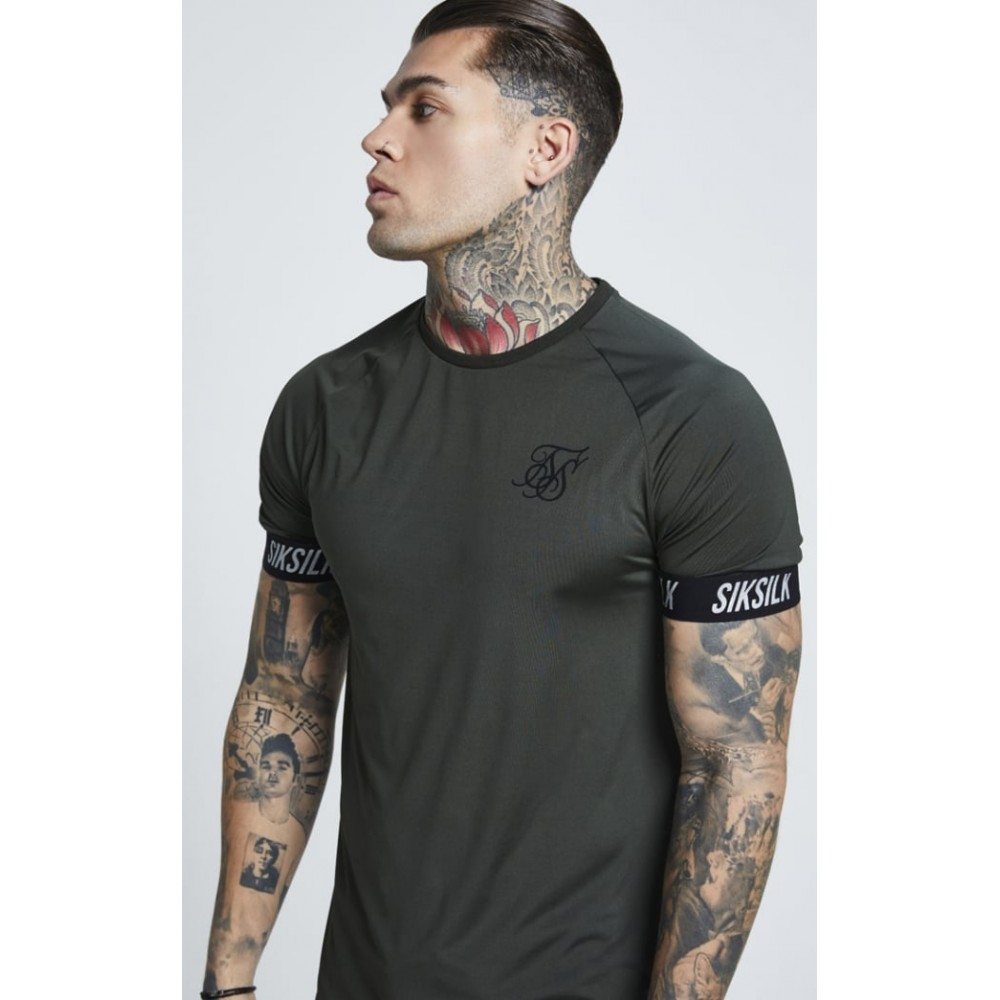 SikSilk Tech Tee – Khaki