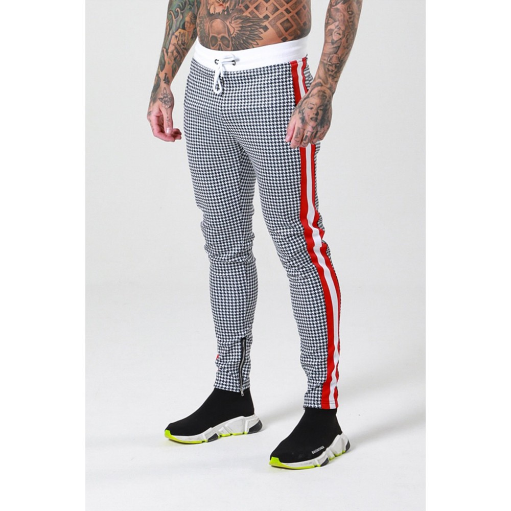 Sinners Attire Dogtooth Track Cropped Joggers