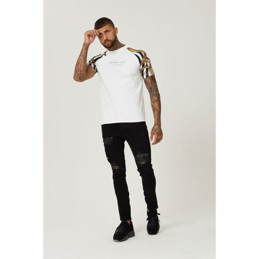 Hermano Raglan Snake T-Shirt - White