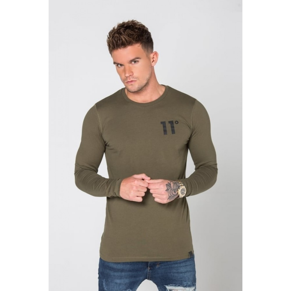 11 Degrees Core Long Sleeve T-Shirt - Khaki