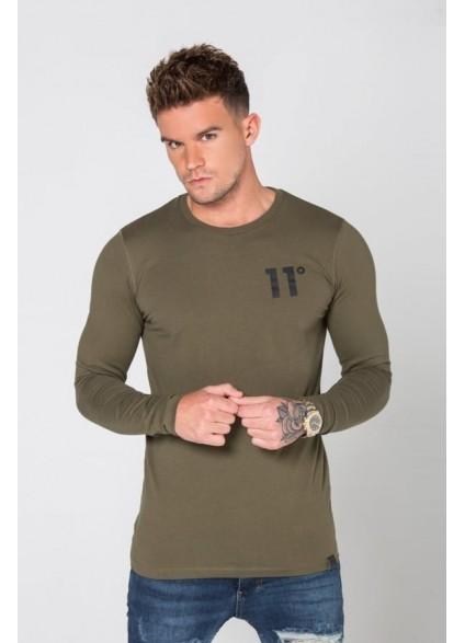 11 Degrees Core Long Sleeve T-Shirt - Khaki