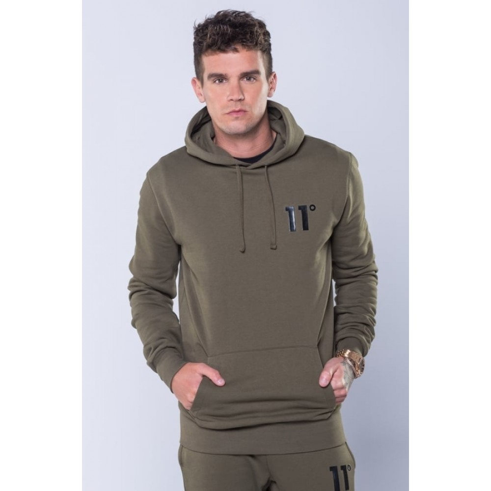 11 Degrees Core Pull Over Hoodie - Khaki