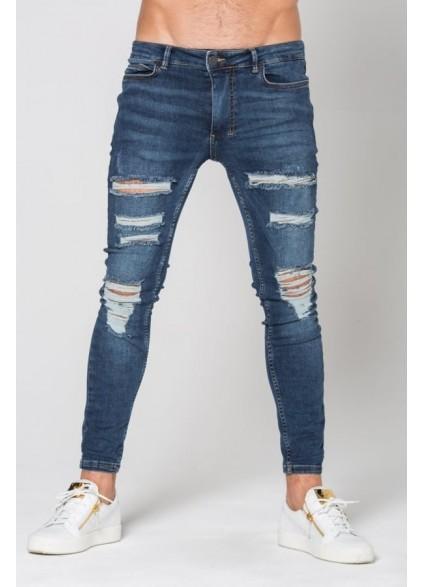 11 Degrees Destrukt Super Skinny Jeans - Indigo