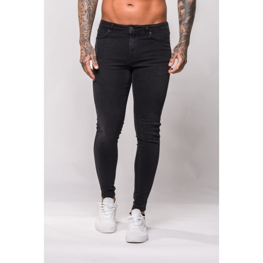11 Degrees Plain Skinny Jeans - Washed Black