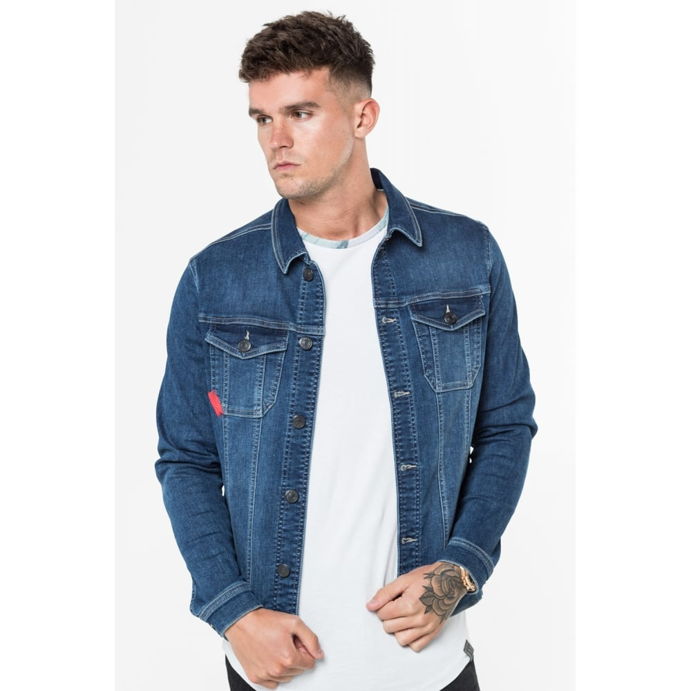 11 Degrees Skinny Denim Jacket - Indigo