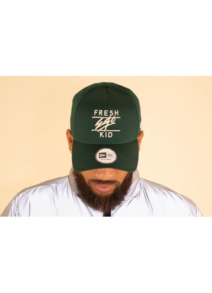 Fresh Ego Kid x New Era Bottle Green / Cream Cotton Trucker Cap