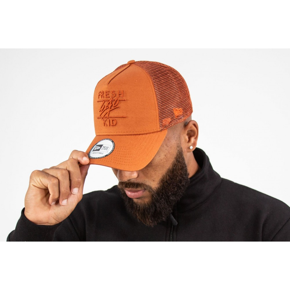 Fresh Ego Kid x New Era Rust Trucker Cap