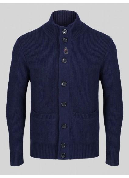 Luke 1977 Military Funnel Neck Cardigan