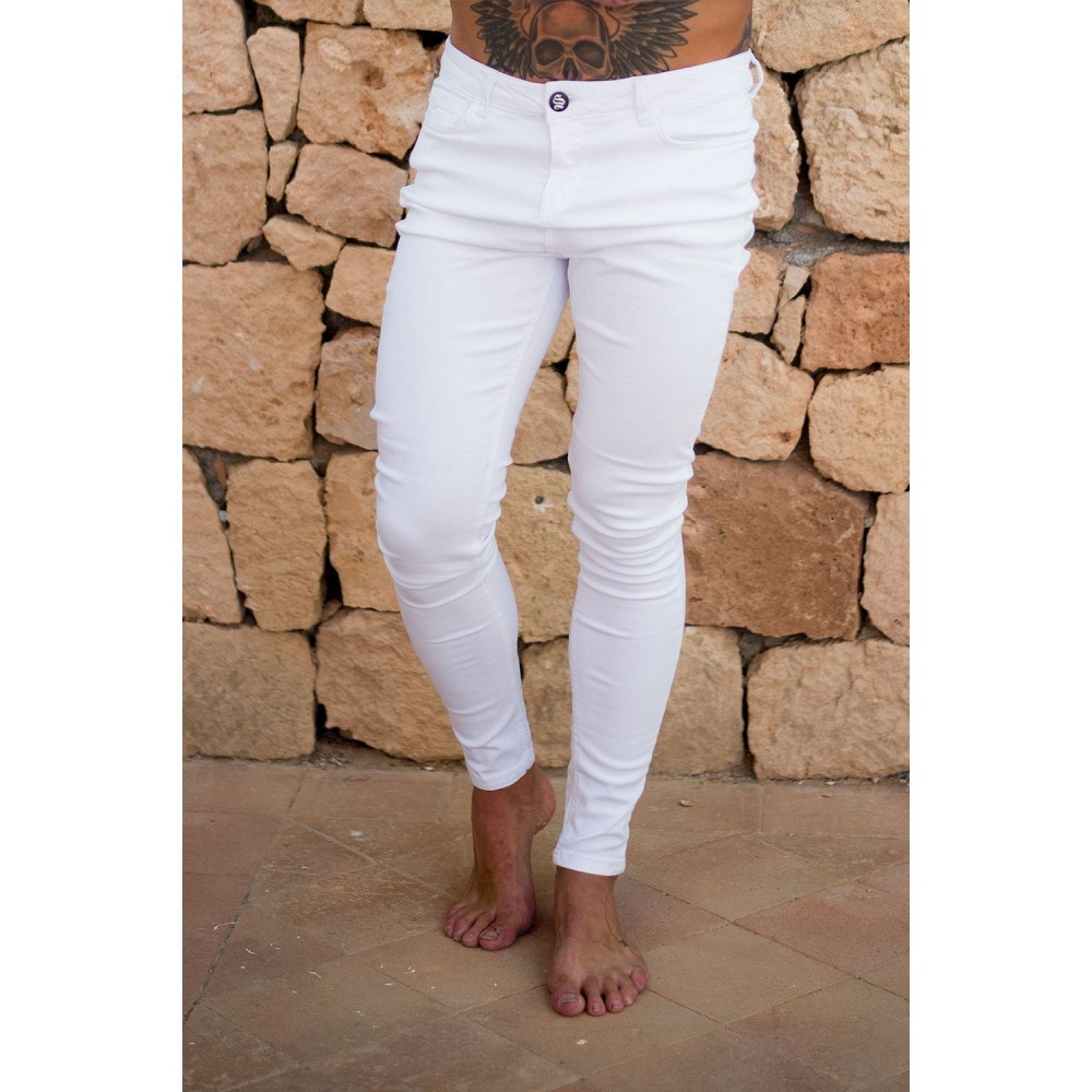 Sinners Attire White Super Spray On Jeans