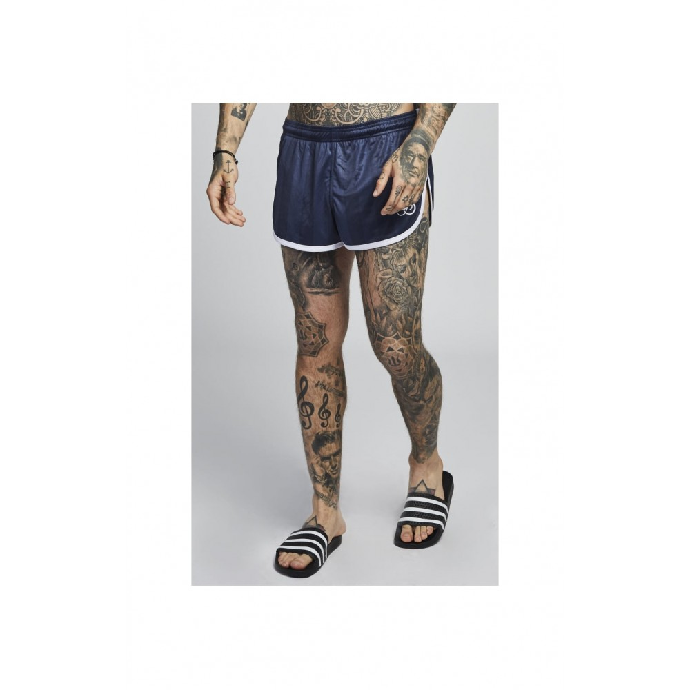 SikSilk Retro Stripe Shorts – Navy Shadow