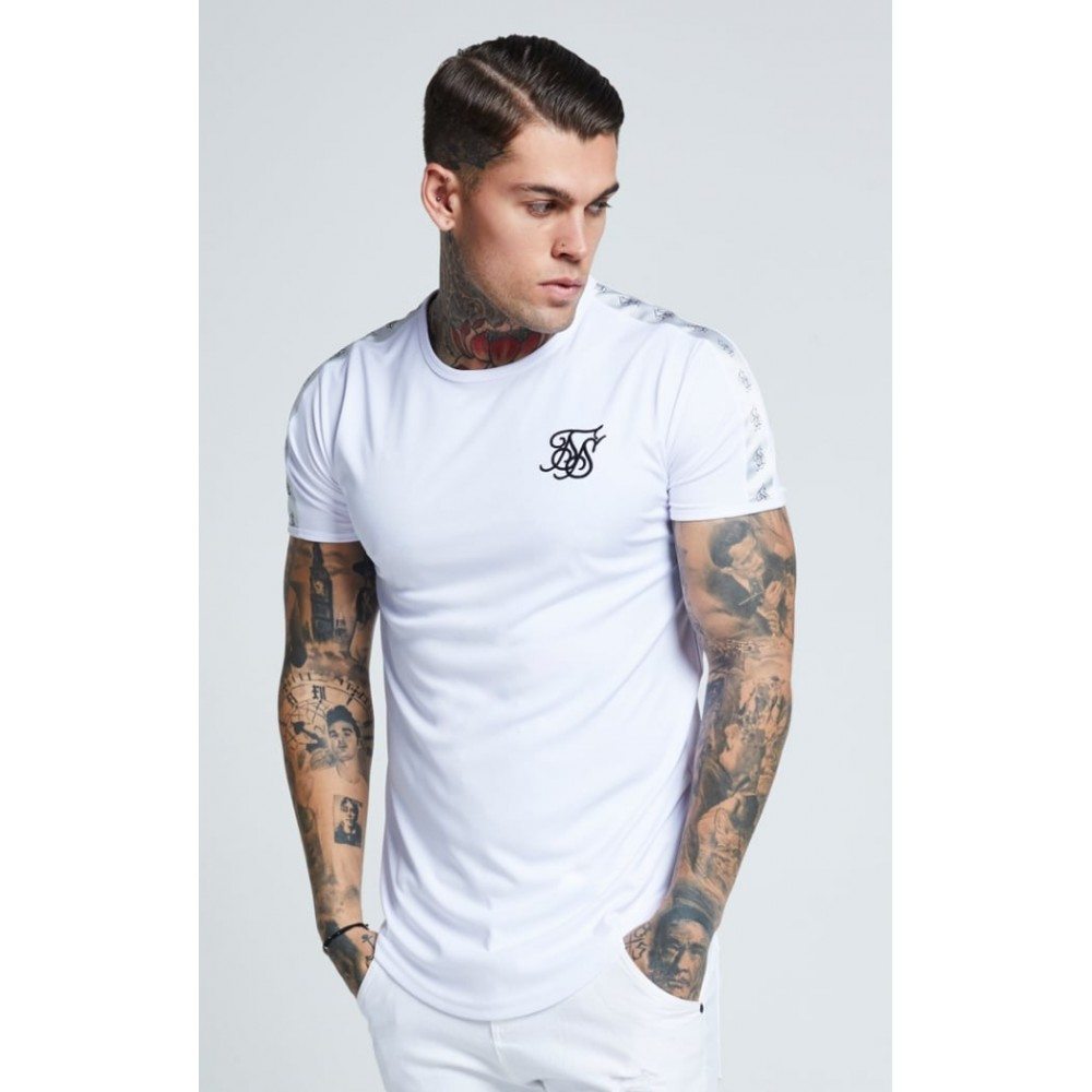 SikSilk S/S Curved Hem Gym Tee - White