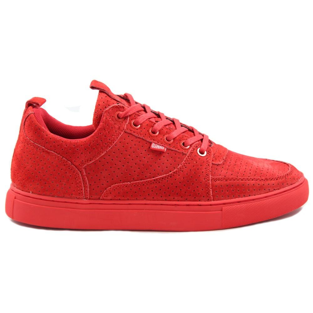 Djinns ForLow 3Ple Perfo Red Sneakers