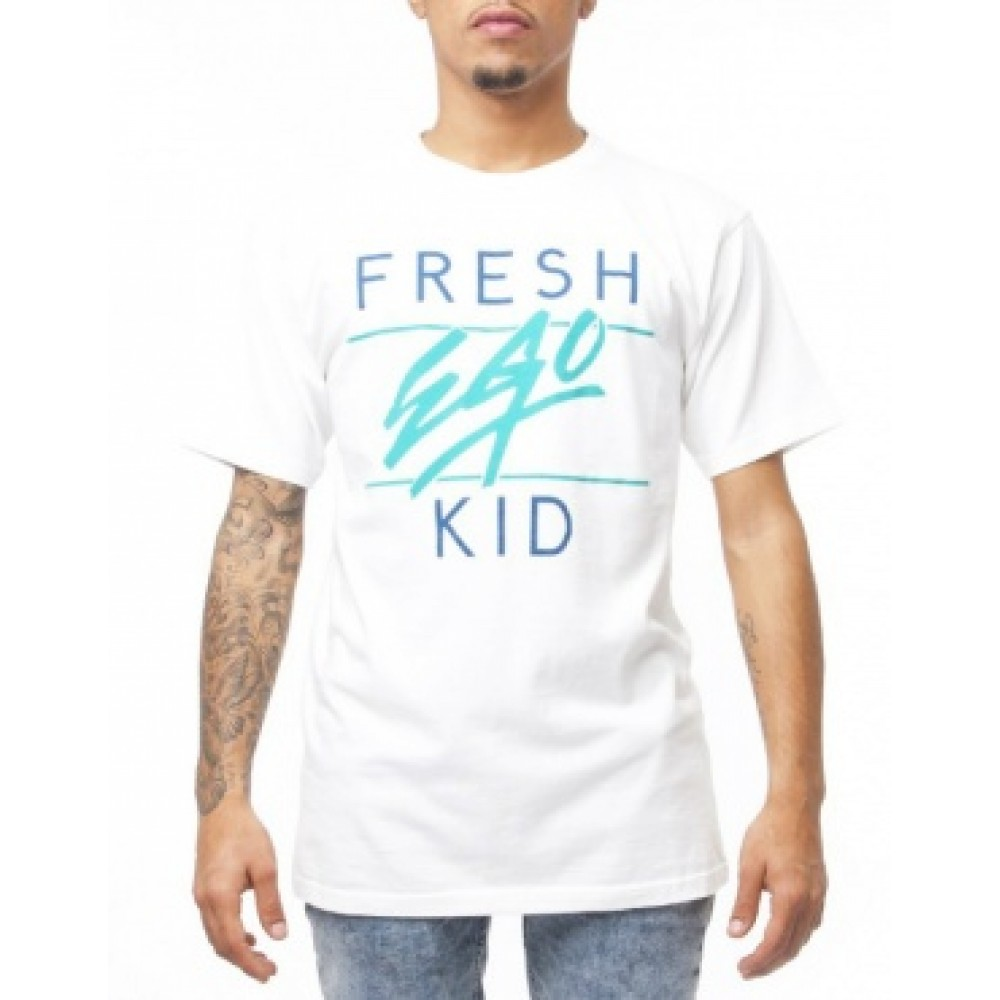Fresh Ego Kid Crew T-Shirt White / Green