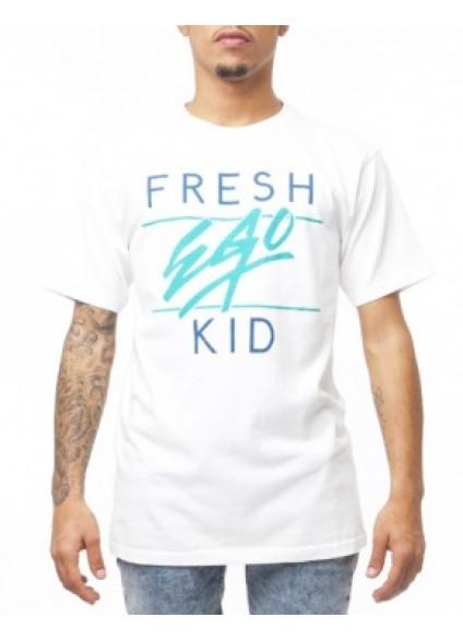 Fresh Ego Kid Crew T-Shirt White / Green