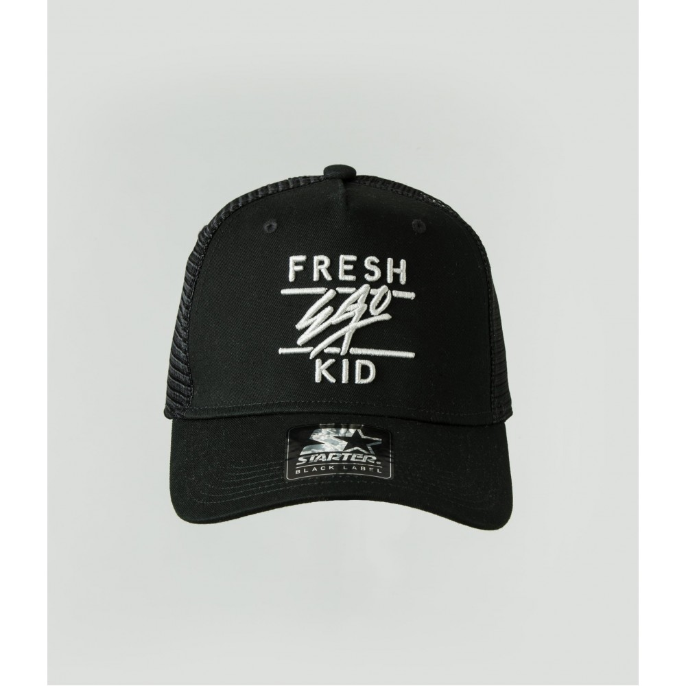 Fresh Ego Kid Black Mesh Trucker Cap