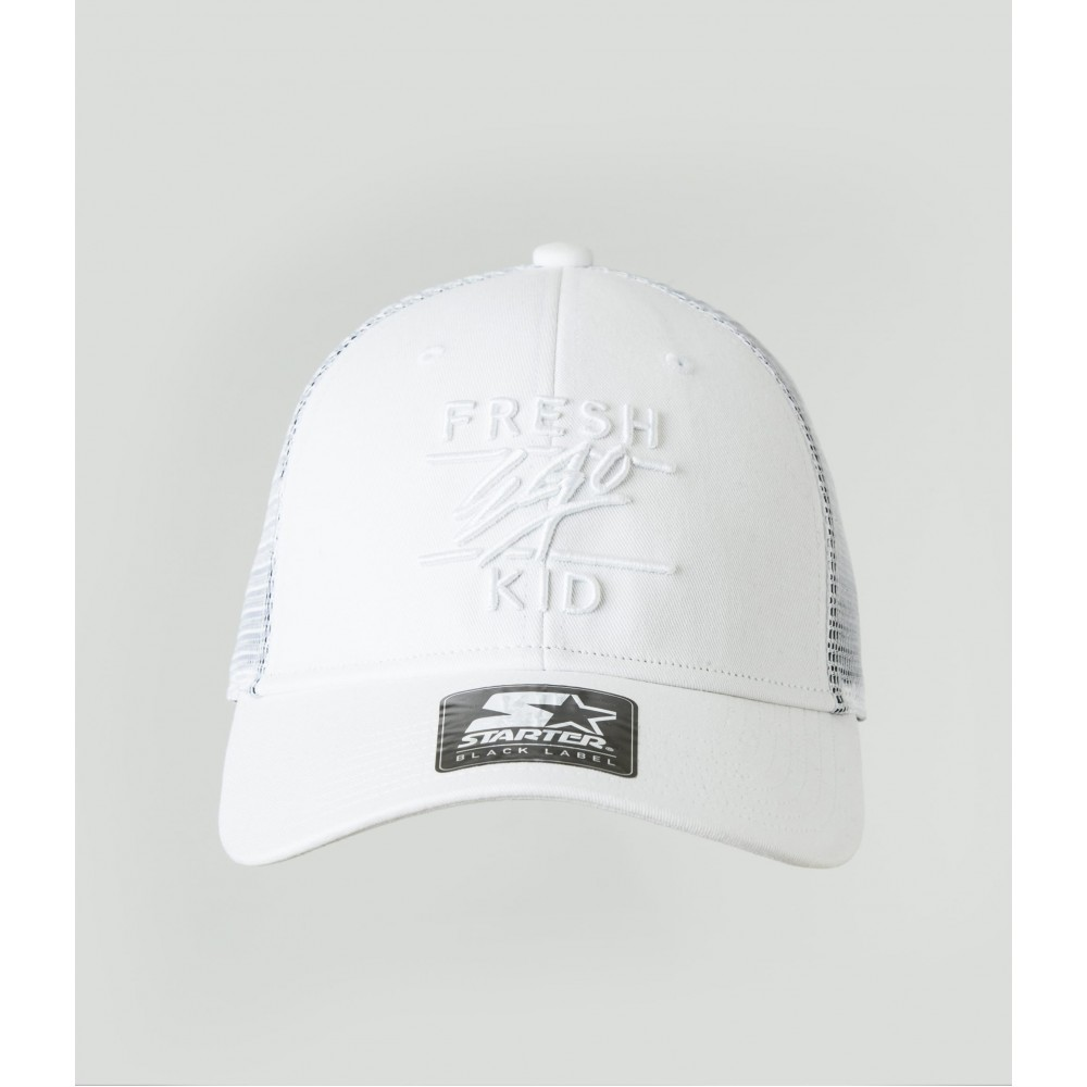 Fresh Ego Kid White Mesh Trucker