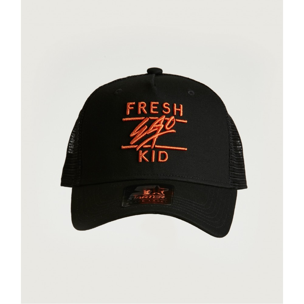 Fresh Ego Kid Black / Orange Mesh Trucker Cap