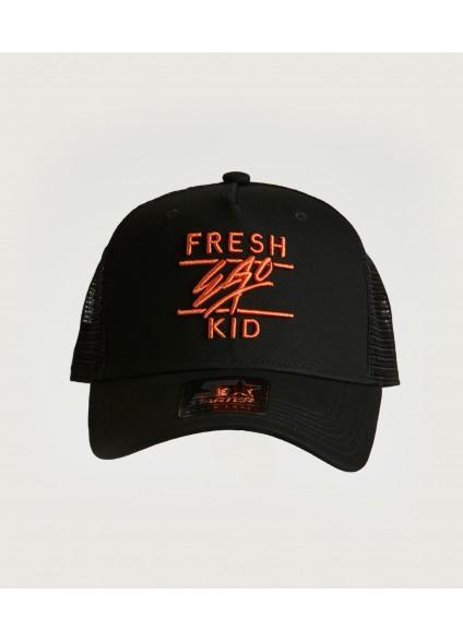 Fresh Ego Kid Black / Orange Mesh Trucker Cap