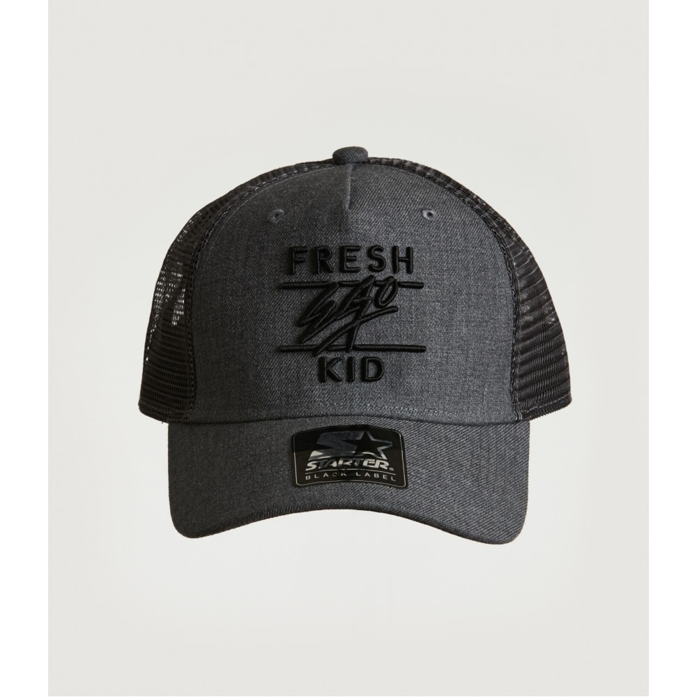 Fresh Ego Kid Charcoal / Black Mesh Trucker Cap