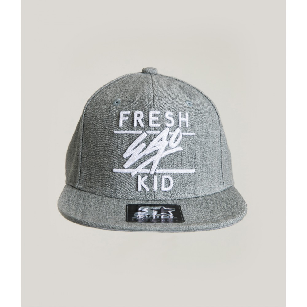 Fresh Ego Kid Heather Grey/White Snapback