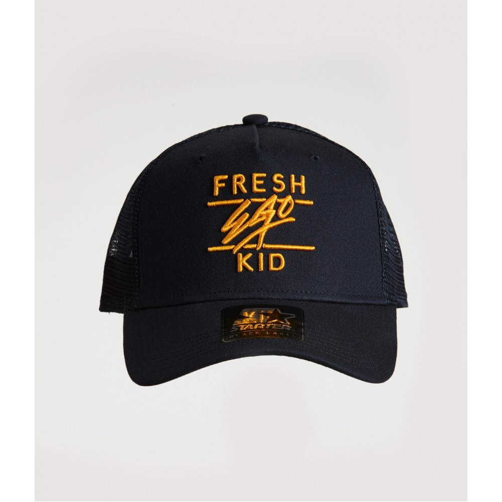 Fresh Ego Kid Navy / Gold Mesh Trucker