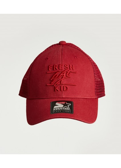Fresh Ego Kid Red Mesh Trucker Cap
