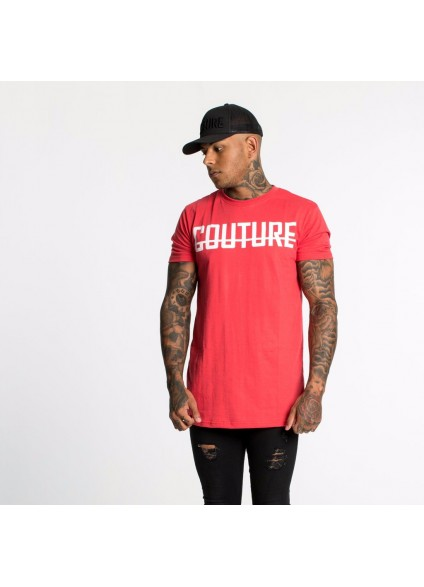 Fresh Couture Rose Longline fitted T-shirt