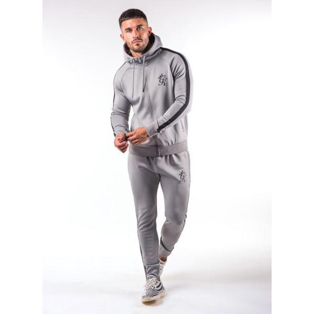 Gym King Tapered Poly Tracksuit Top - Sleet