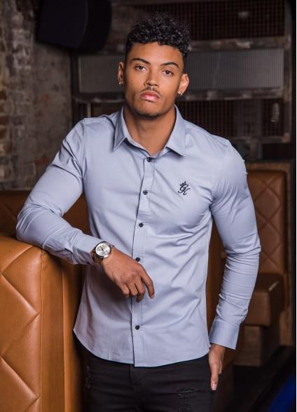 Gym King Longsleeve Poplin Shirt – Grey Dawn
